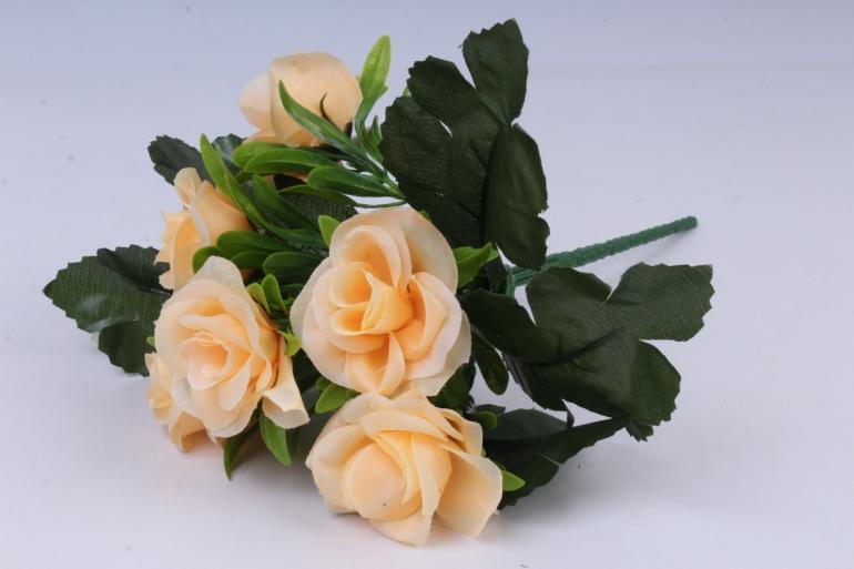искусственное растение - розы персиковые 25 см