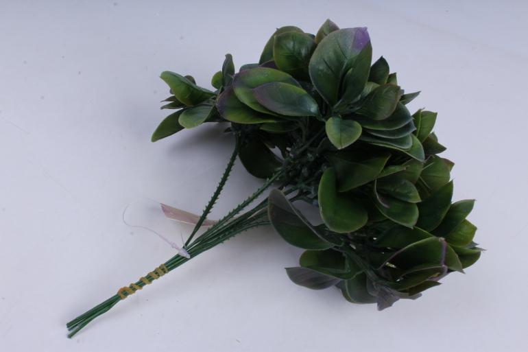 искусственное растение- ветка фиолетовыми листиками 23см  (6шт в уп)  ga7b0054  1261