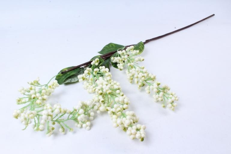 Искусственное растение -  Ветка ягод Годжи белая  В9730