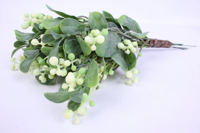 искусственное растение - веточка с ягодами  30 см (12 шт в уп) 7110