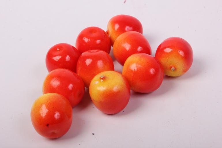 искусственные фрукты - яблочки райские 2 см (10 шт в уп)