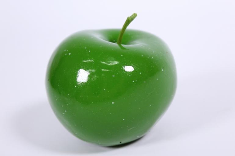 искусственные фрукты - яблоко зеленое 9 см
