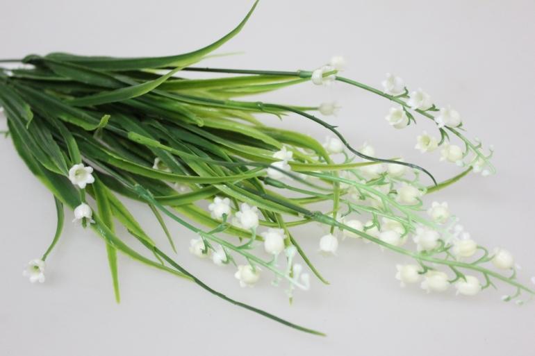 искусственные растения - 5740 ландыш белый с-1972