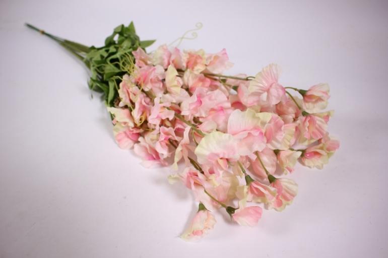 искусственные растения - цветок 45см (6 шт в уп) бело-розовый sun486