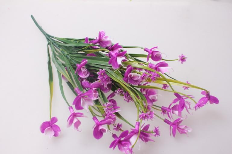 искусственные растения - львиный зев бело/сиреневый ga59
