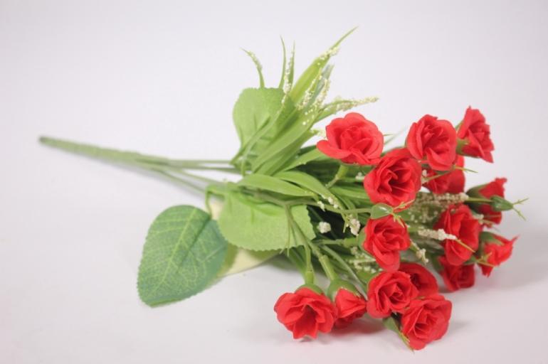 искусственные растения - розочки красные 30 см