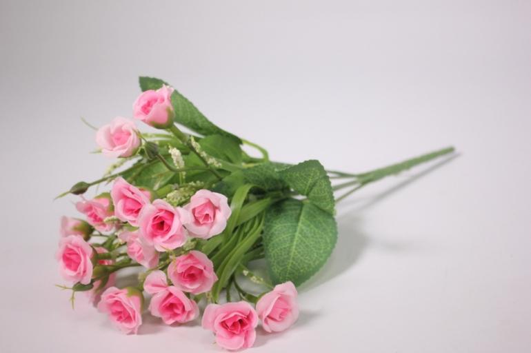 искусственные растения - розочки розовые 30 см