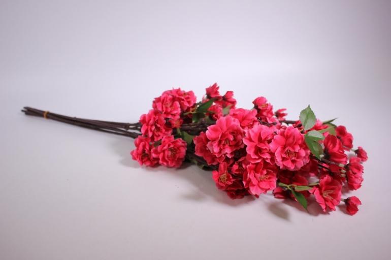 искусственные растения - сакура ветка 65см малиновая (6шт в уп) sun416