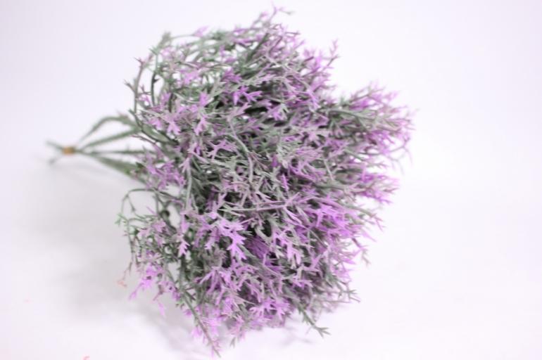 искусственные растения - ветка сиреневая 21см  (6шт в уп) gaр18 (код 6439)