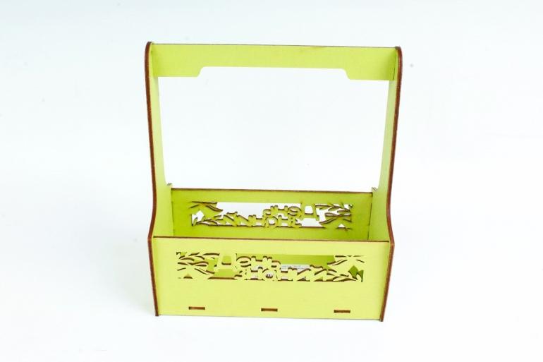 Кашпо-ящик (С) для цветов  День знаний Фисташковый