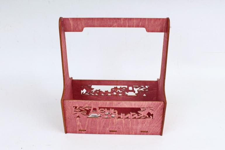 Кашпо-ящик (С) для цветов  День знаний Махагон