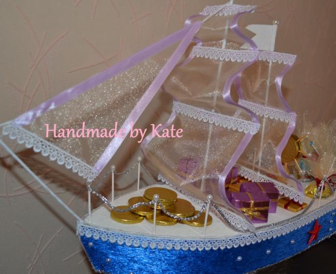 """Корабль из конфет """"Blue sky"""""""