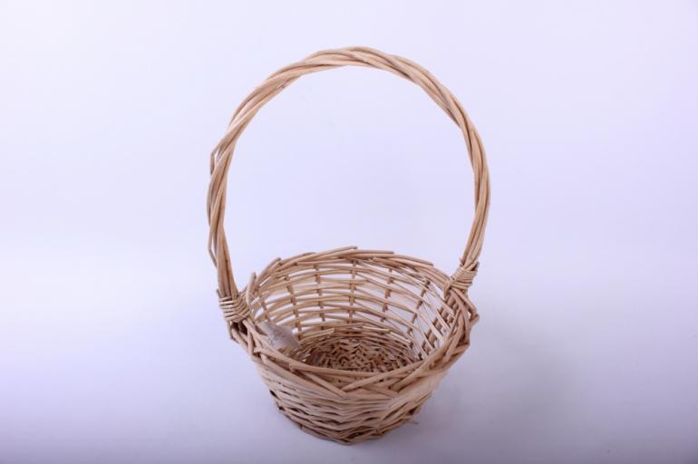 корзина плетеная - (ива) натуральная d=21/21, h=11/30см (кс-037)