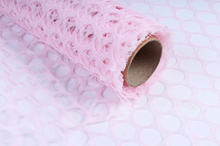 """Крошет """"Крупная ячейка"""" 50см*5ярд неж.розовый (Н)"""