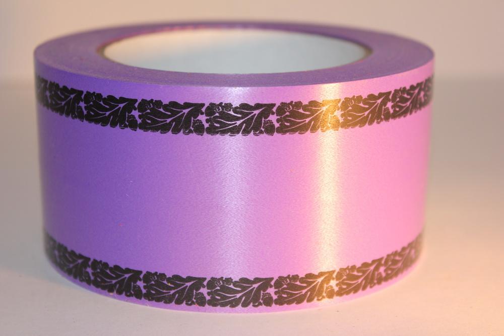 траурная ритуальная лента 6,0 см 50 ярдов дубки простые лента 6х50у фиолетовая р675 P675