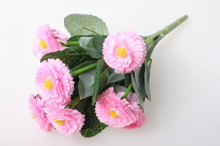 маргаритка яркая розовая букет 30см