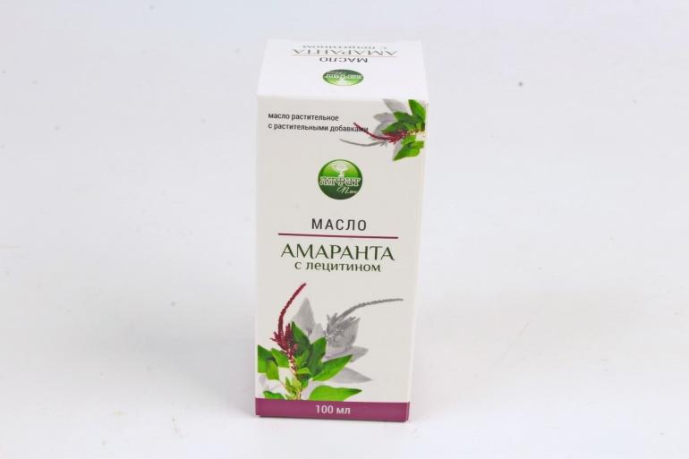 """масло Амаранта с лецитином """"Алфит Плюс"""" растительное с растительными добавками 100 мл"""