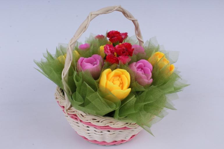мыло ручной работы  букет тюльпанов h=14cm