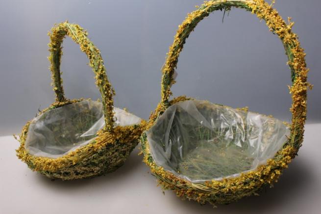 набор (2шт) кашпо из травы 13887а