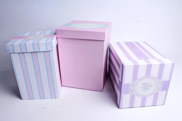 Набор подарочных коробок из 3шт - Куб №66 высокий Ладури Пин66ЛА (М)