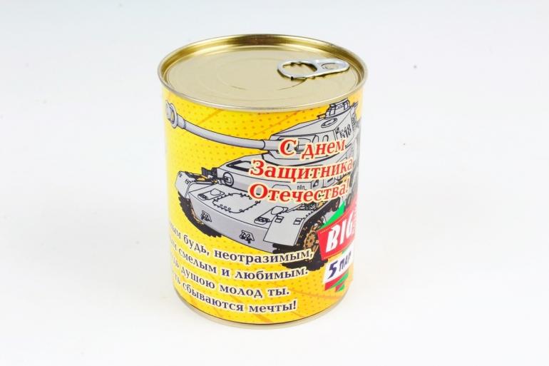 """Носки """"С днем защитника отечества!"""" в металлической банке (набор 5 пар)"""