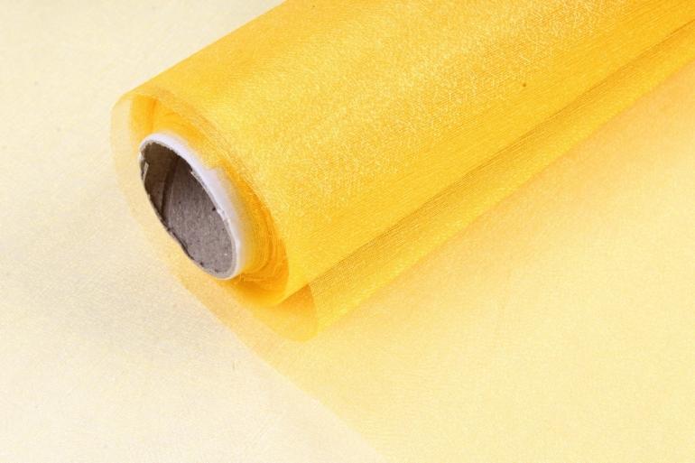 Органза-снег  в рулоне 70см*9м Яичный желток
