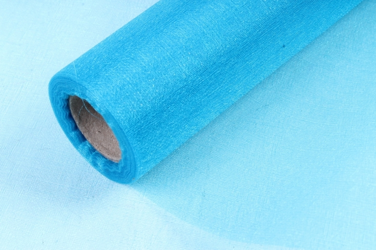 Органза-снег  в рулоне 70см*10м  Ярко-Синий