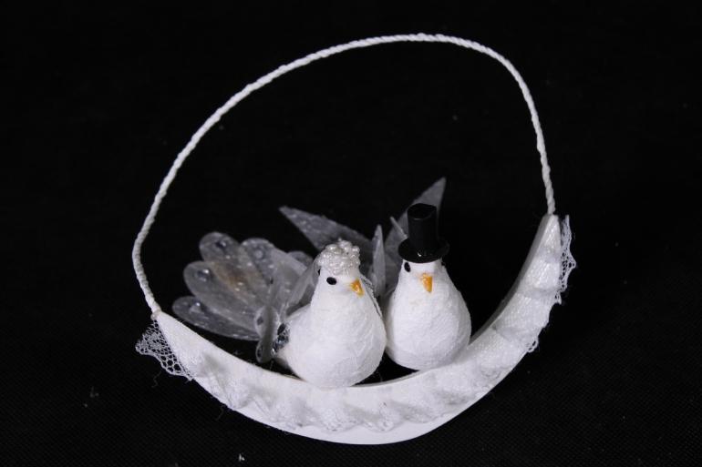 пара голубей на подвеске  арт.283894   9108