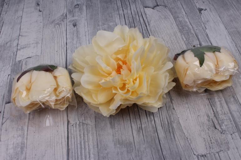 пион 12 см цвет персиковый 1908 (3 шт в уп) sun406