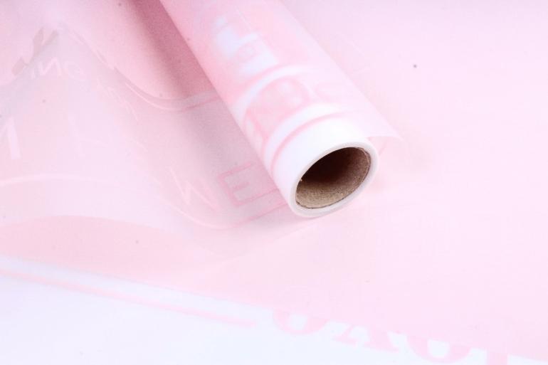 """Пленка матовая 60см*10м """"Листовка"""" розовый (Н) 2012"""