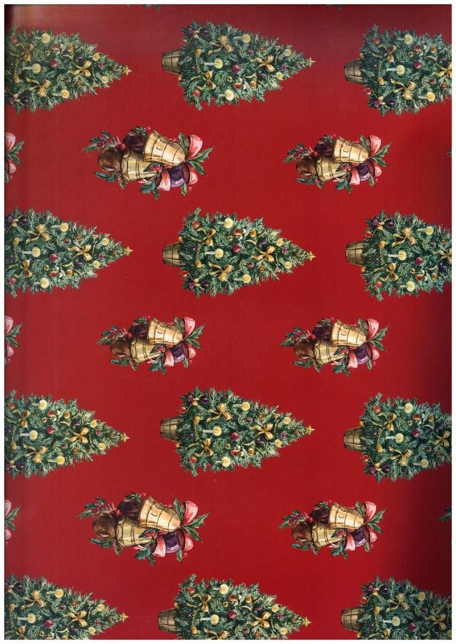 подарочная бумага - глянец 100/207 - новый год - зелёная красавица 0,7х1м (10 листов)