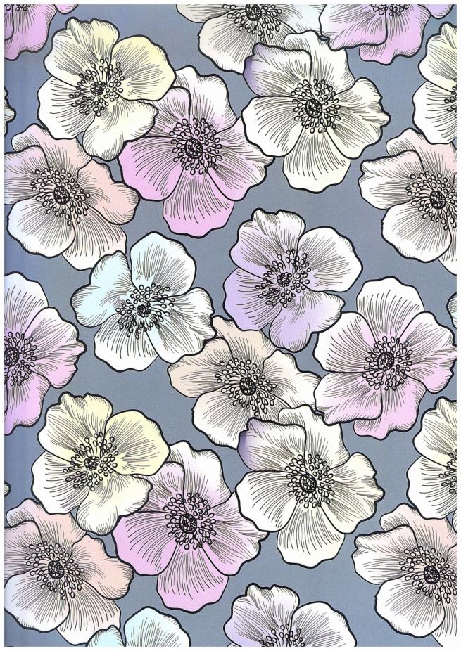 подарочная бумага - глянец 100/315 цветочная стихия 0,7х1м (10 листов)