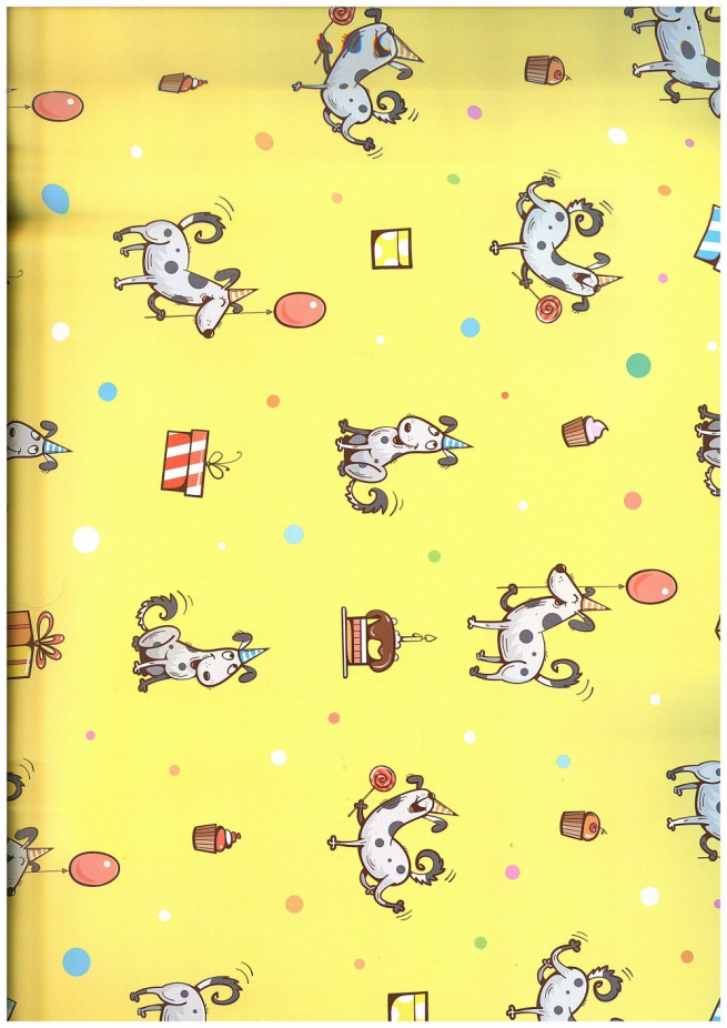 подарочная бумага глянец 100/817 щенячий восторг 0,7*1м (10 лист.)
