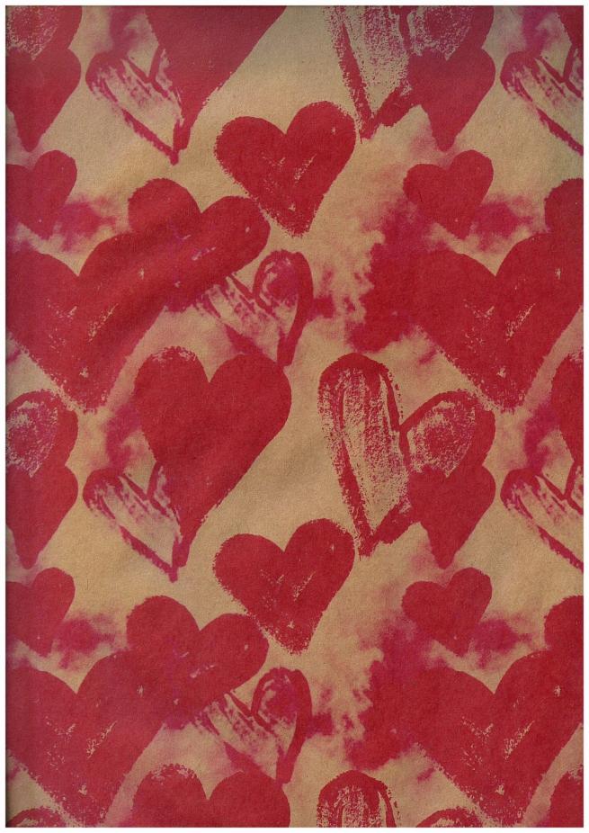подарочная бумага крафт - любовный дурман (код 203/471)