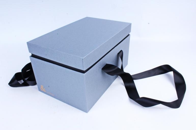 Подарочная коробка одиночная - Прямоугольник с двойным дном стальной  Z14