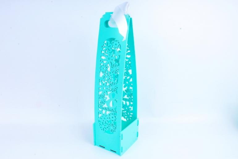 """Подарочная коробка под шампанское """"8 Марта!"""" тиффаниПУ435-02-2626"""
