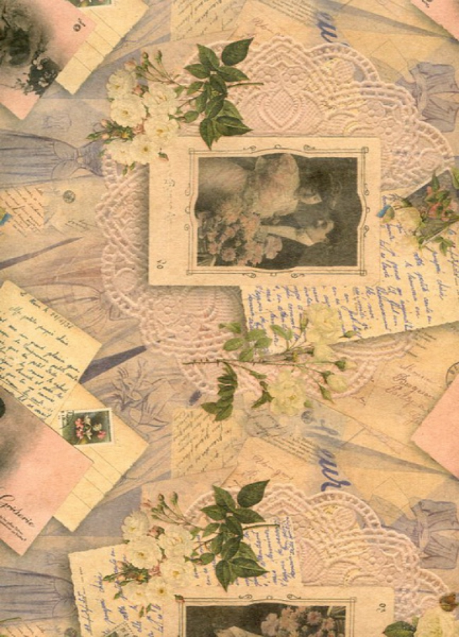 "подарочная крафт бумага ""нежные чувства"" 0,7х1м в листе (10 лист.)"