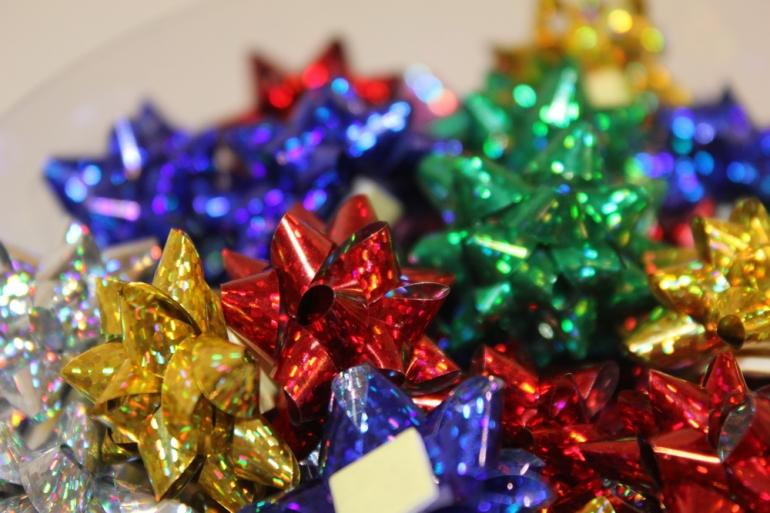 банты праздничные подарочный декоративный праздничный - бант звезда №1 d=2см  (100шт.) 1652