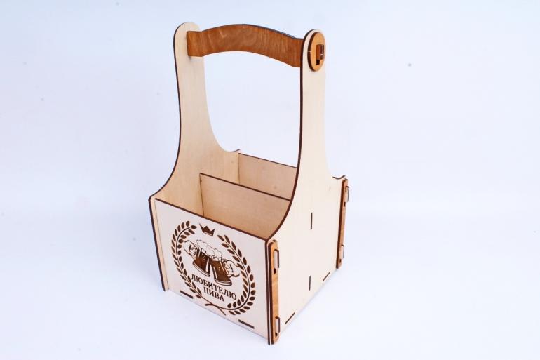 """Подарочный ящик """"Любителю пива"""" с ручкой  фанера, оформл.ПУ428-00-0017"""