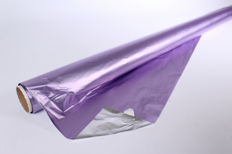 полисилк (1м*20м) в рулоне лиловый/серебро