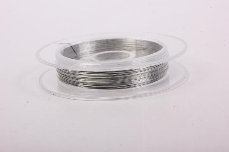 проволока 0,3мм серебро флористическая  (п-10-009)