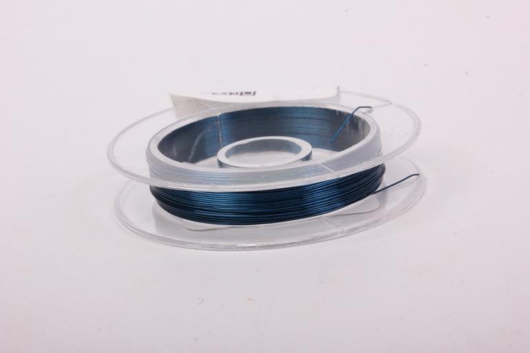 проволока темно-бирюзовая флористическая  (п-10-007) - 0,3 мм.