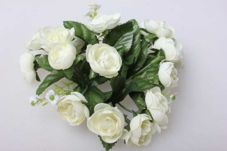 роза белая на кольце - для декора