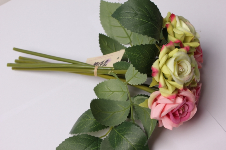 роза фестиваль  (6шт в букете)  20см 8641
