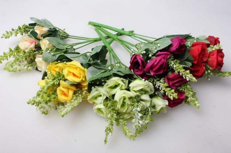 роза кермек мелкая букет в ассортименте 35см