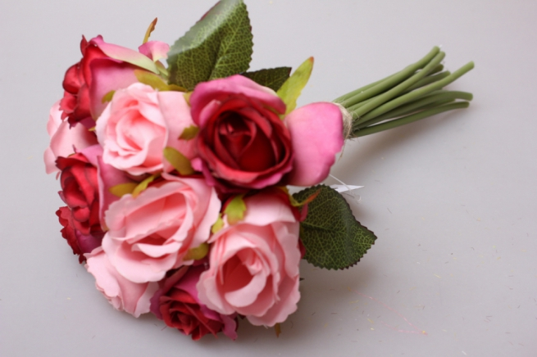 роза красная/розовая 1/12шт 21см kwy 475 9505