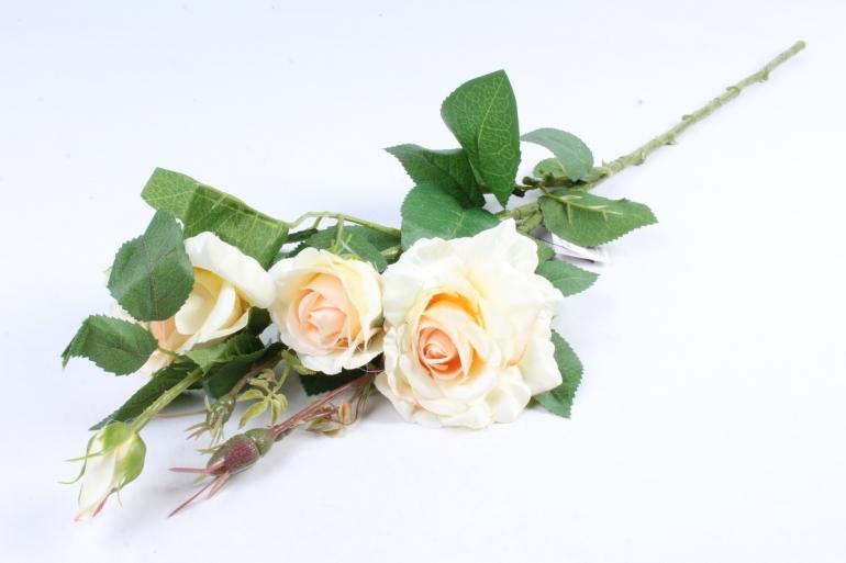 Роза на ветке  кремовая SUN130