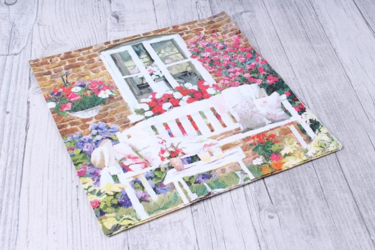 салфетка декупажная 33х33см  садовая скамья13311230