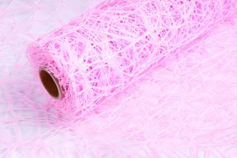 Сетка Сизаль Искусственная 54см * 5м розовый UM-04 (Н)