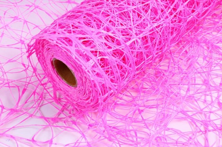 Сетка Сизаль Искусственная 54см * 5м ярко розовый UM-05 (Н)